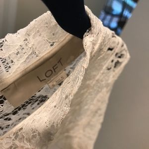 LOFT Tops - Long-sleeved Lace Top